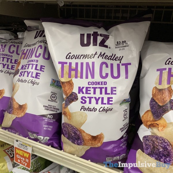 Utz Gourmet Medley Thin Cut Kettle Style Potato Chips