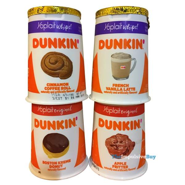 Yoplait Dunkin Inspired Yogurt Flavors