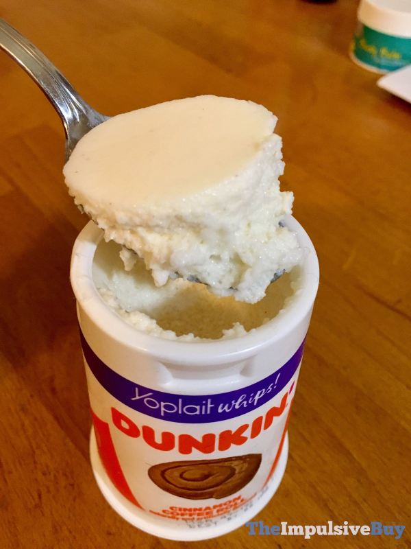 Yoplait Whips Dunkin Cinnamon Coffee Roll Yogurt