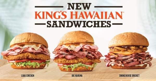 Arby s New King s Hawaiian Sandwiches
