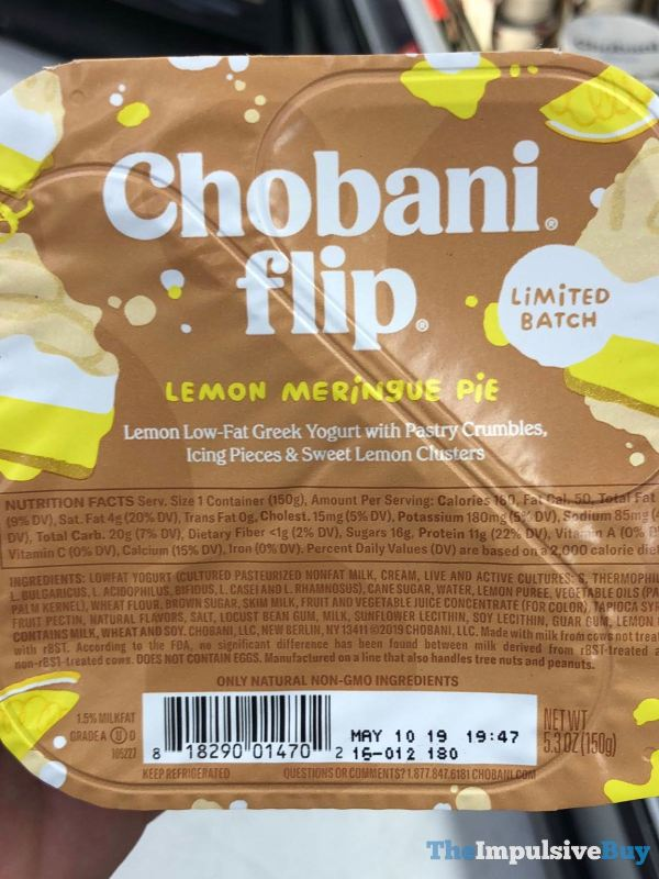 Chobani Flip Limited Batch Lemon Meringue Pie