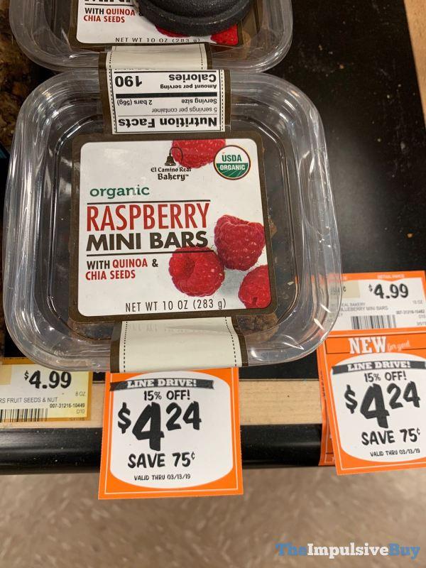 El Camino Real Bakery Organic Raspberry Mini Bars
