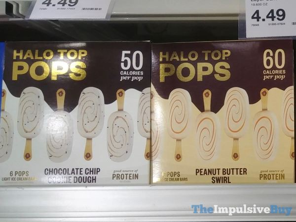 Halo Top Pops Chocolate Chip Cookie Dough and Peanut Butter Swirl