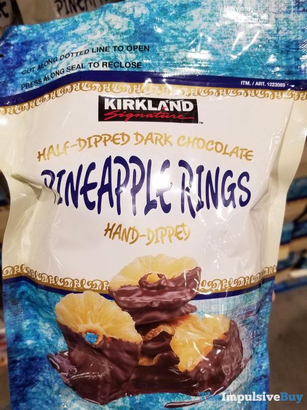 Kirkland Signature Half Dipped Dark Chocolate Pineapple Rings