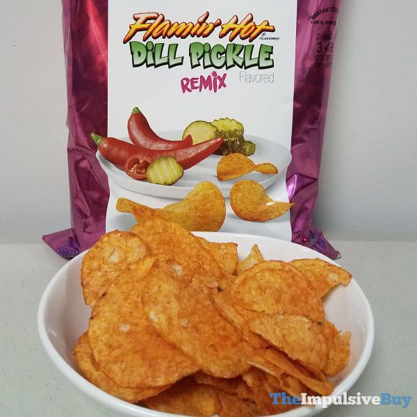Lay s Turn Up the Flavor Flamin Hot Dill Pickle Remix Potato Chips