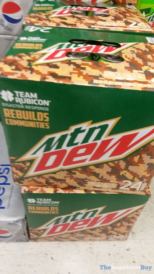 Mtn Dew Team Rubicon Packaging