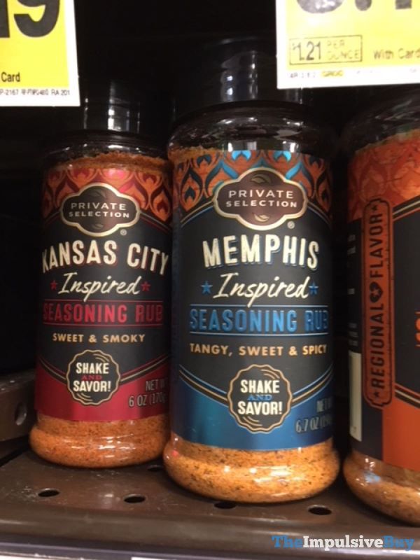 Private Selection Kansas City Inspired and Memphis Inspired Seasoning Rub