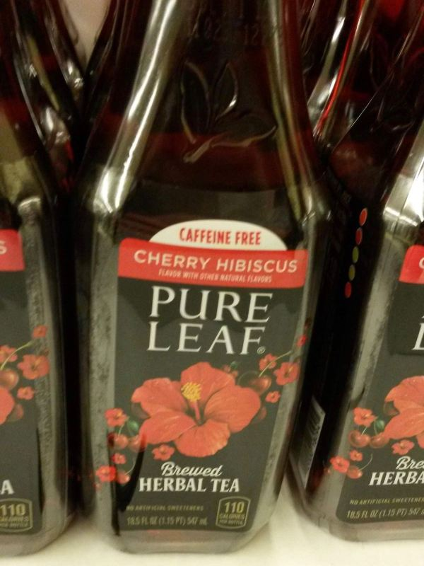 Pure Leaf Caffeine Free Cherry Hibiscus Brewed Herbal Tea