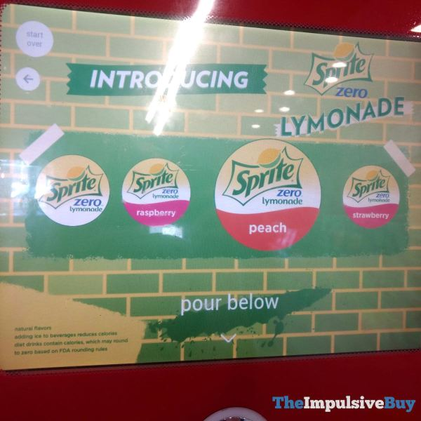 Sprite Zero Lymonade Flavors at Burger King