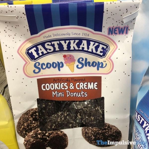 Tastykake Scoop Shop Cookies  Creme Mini Donuts