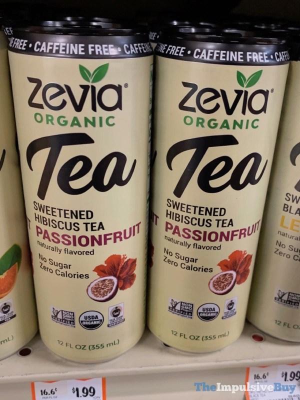 Zevia Organic Tea Caffeine Free Sweetened Hibiscus Tea Passionfruit