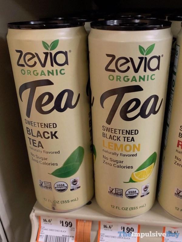 Zevia Organic Tea Sweetened Black Tea and Black Tea Lemon