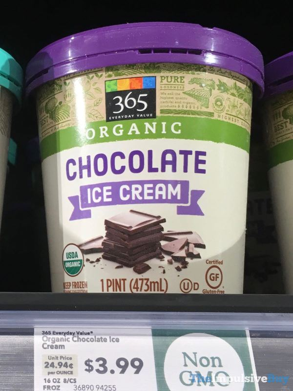 365 Everyday Value Organic Chocolate Ice Cream