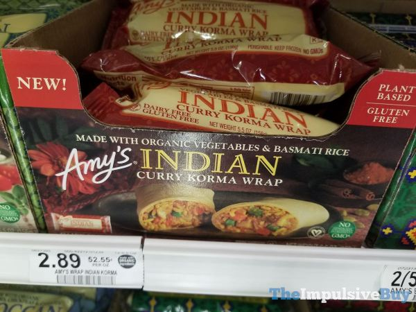 Amy s Indian Curry Korma Wrap