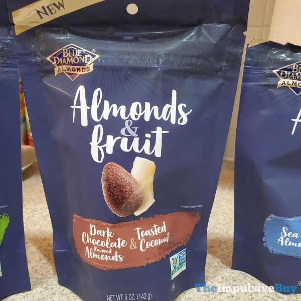 Blue Diamond Almonds  Fruit Dark Chocolate Flavored Almonds  Toasted Coconut