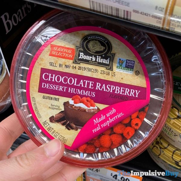 Boar s Head Seasonal Selection Chocolate Raspberry Dessert Hummus