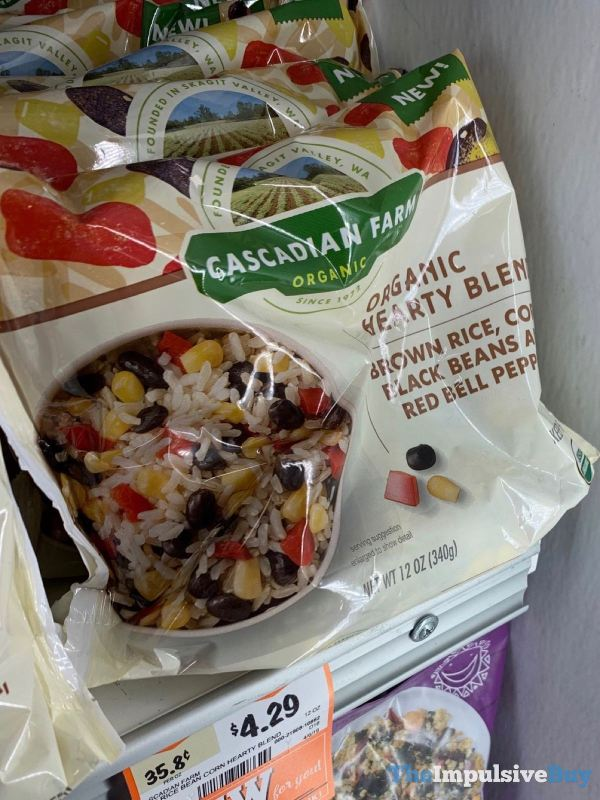 Cascadian Farm Organic Hearty Blend Brown Rice Corn Black Beans and Red Bell Peppers