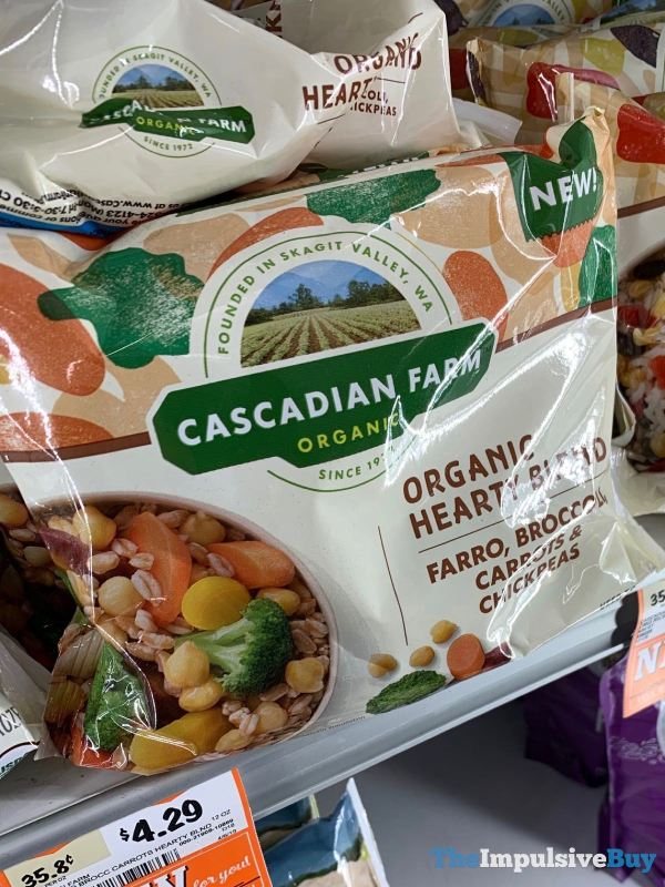 Cascadian Farm Organic Hearty Blend Farro Broccoli Carrots  Chickpeas