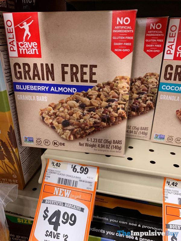 Caveman Foods Blueberry Almond Granola Bars