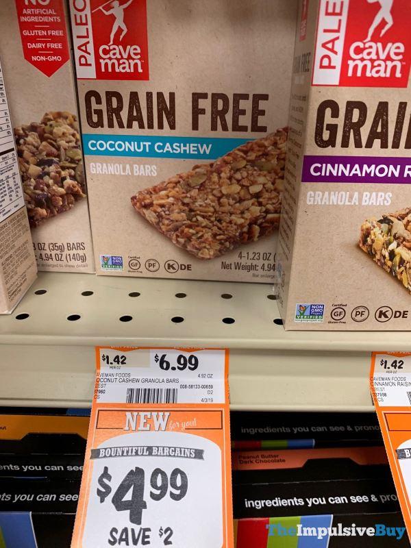 Caveman Foods Coconut Cashew Granola Bars