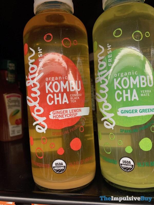 Evolution Fresh Ginger Lemon Honeycrisp Organic Kombucha Congou Black Tea