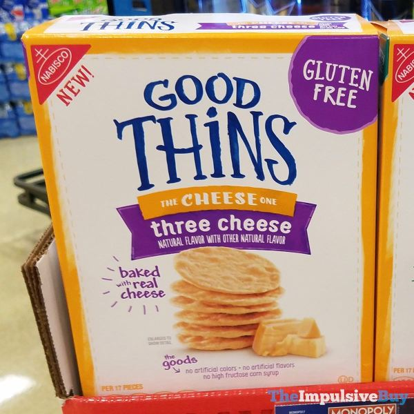 Good Thins Three Cheese Crackers