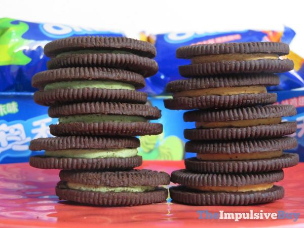 Hot Chicken Wing Oreo Cookies and Wasabi Oreo Stacks