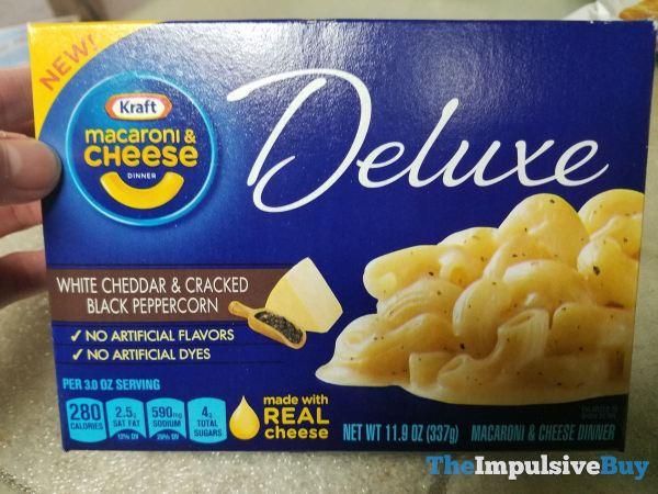Kraft Macaroni  Cheese Dinner White Cheddar  Cracked Black Peppercorn