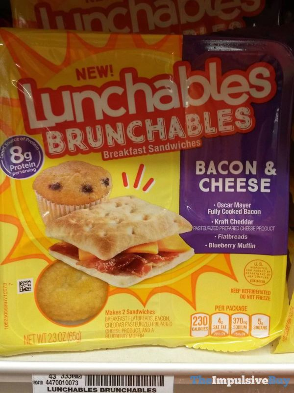 Lunchables Brunchables Bacon  Cheese Breakfast Sandwiches