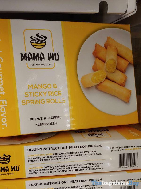 Mama Wu Mango  Sticky Rice Spring Rolls