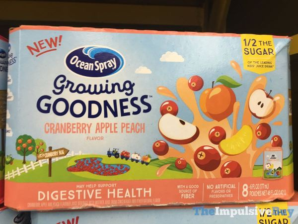 Ocean Spray Growing Goodness Cranberry Apple Peach