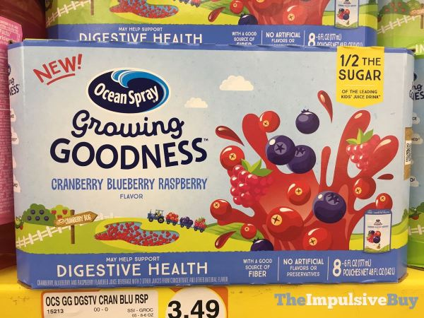 Ocean Spray Growing Goodness Cranberry Blueberry Raspberry