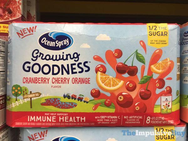 Ocean Spray Growing Goodness Cranberry Cherry Orange