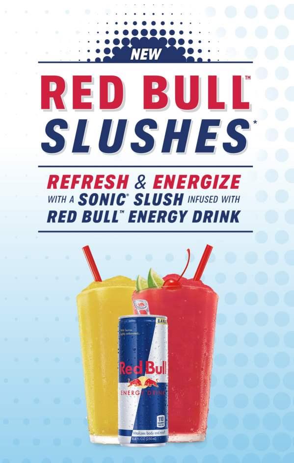 Sonic Red Bull Slushes