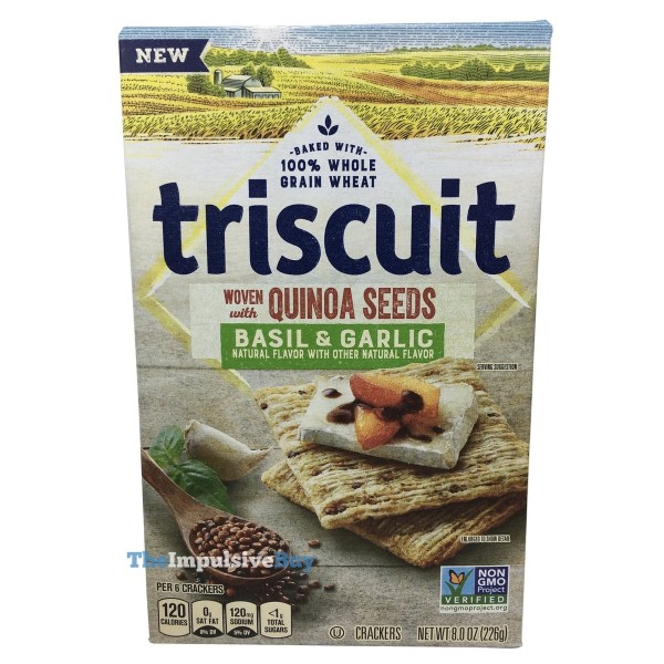 Triscuit Woven with Quinoa Seeds Basil  Garlic
