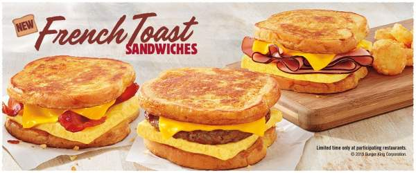 BK French Toast Sandwiches