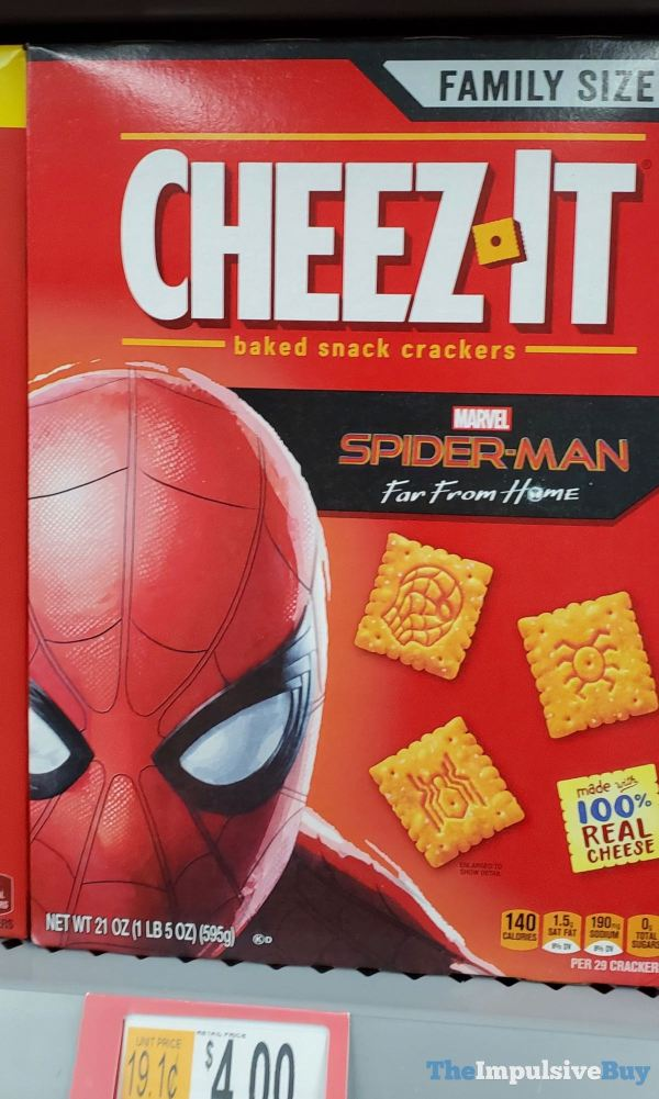 Cheez It Marvel Spider Man Far From Home Crackers