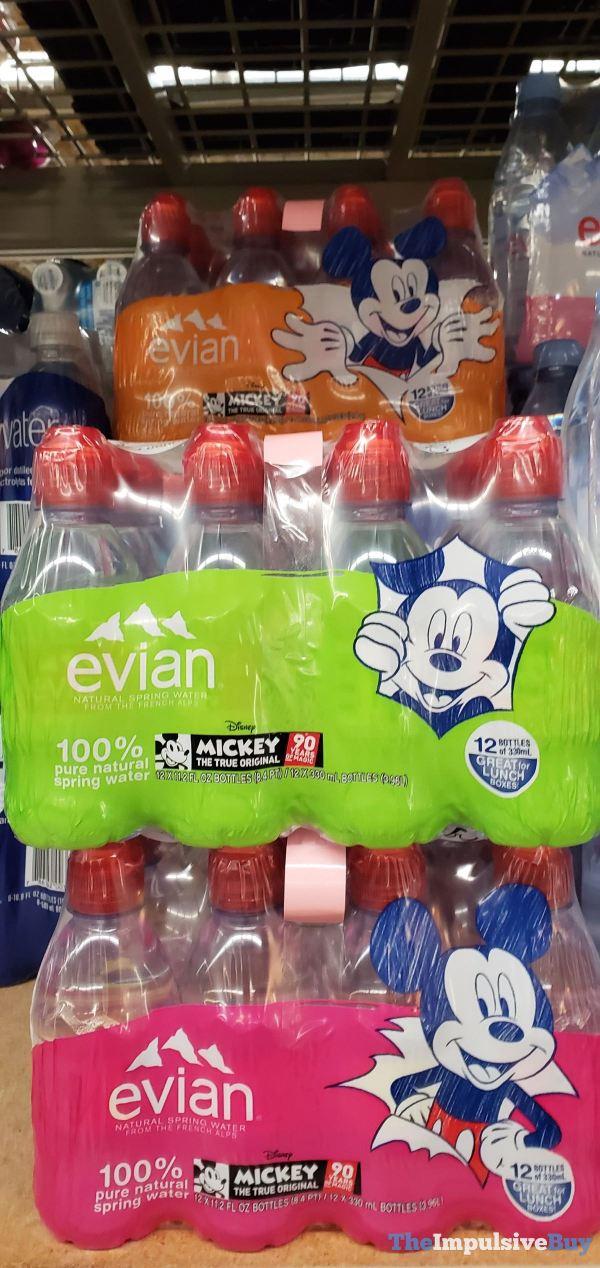 Evian Mickey 90th Birthday Packaging