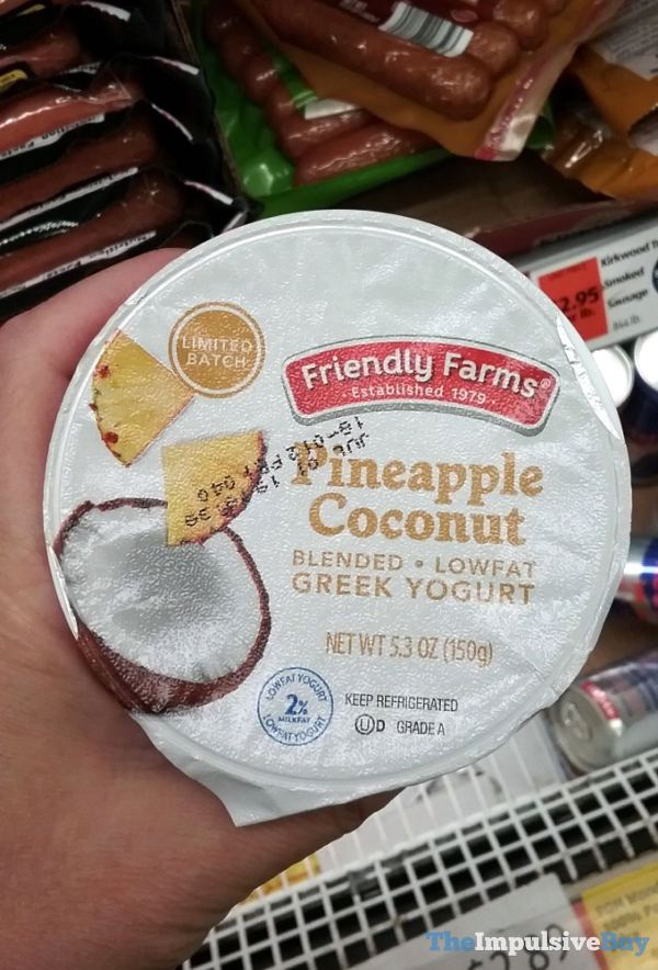 Friendly Farms Limited Batch Pineapple Coconut Greek Yogurt