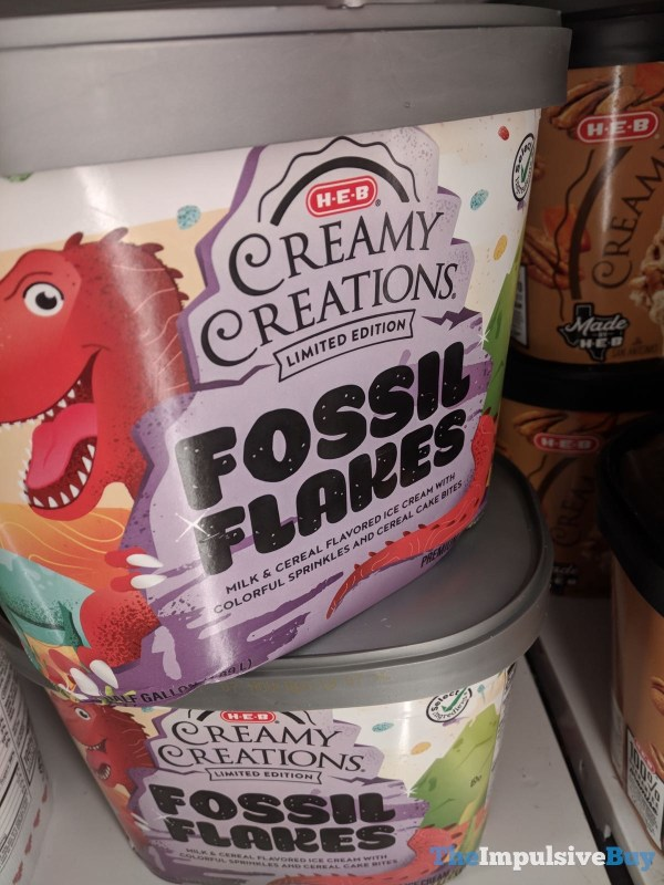 H E B Creamy Creations Limited Edition Fossil Flakes Ice Cream
