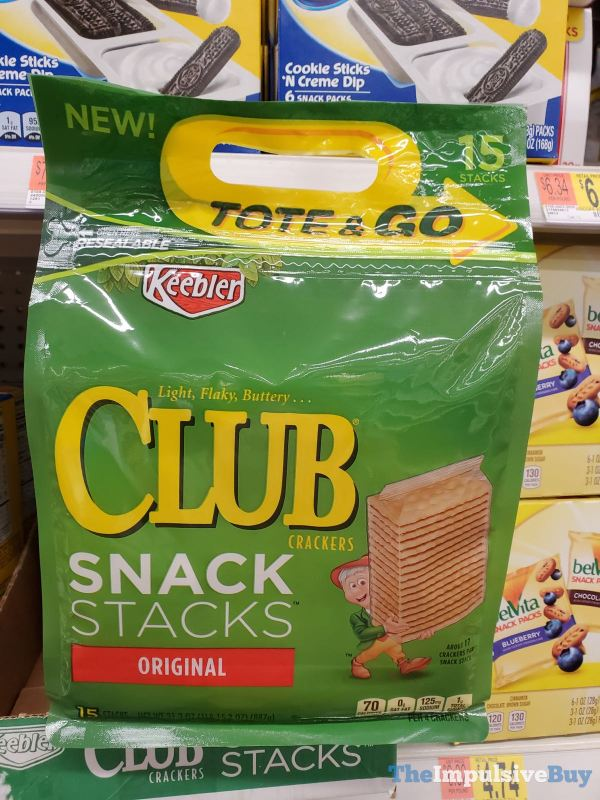 Keebler Tote  Go Snacks Stacks Original Club Crackers