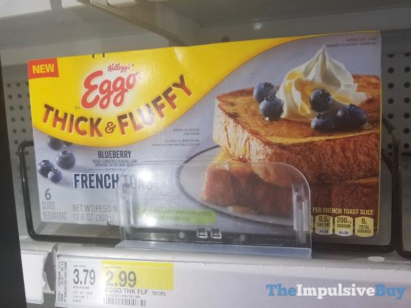Kellogg s Eggo Thick  Fluffy Blueberry French Toast