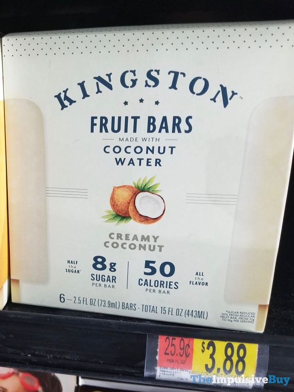 Kingston Fruit Bars Made with Coconut Water Creamy Coconut