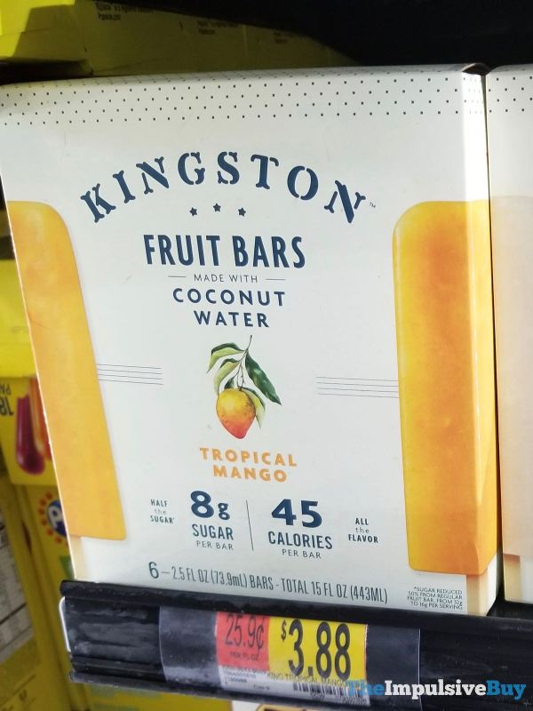 Kingston Fruit Bars Made with Coconut Water Tropical Mango