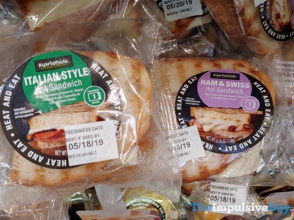 Marketside Italian Style and Ham  Swiss Hot Sandwiches