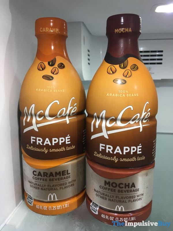 McCafe Frappe 40 ounce Bottles  Caramel and Mocha