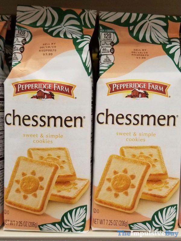 Pepperidge Farm Summer Design Chessmen Cookies