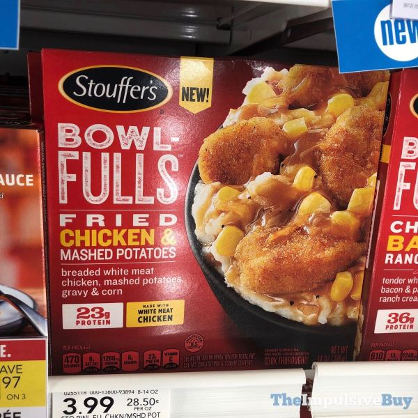 Stouffer s Bowlfulls Fried Chicken  Mashed Potatoes