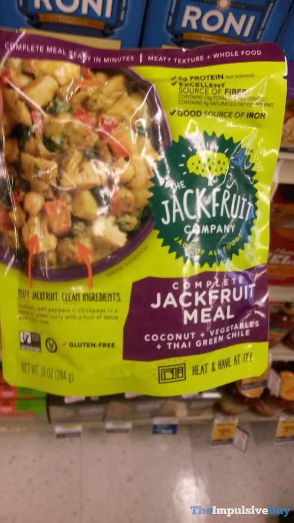 The Jackfruit Company Coconut Vegetables Thai Green Chile Complete Jackfruit Meal