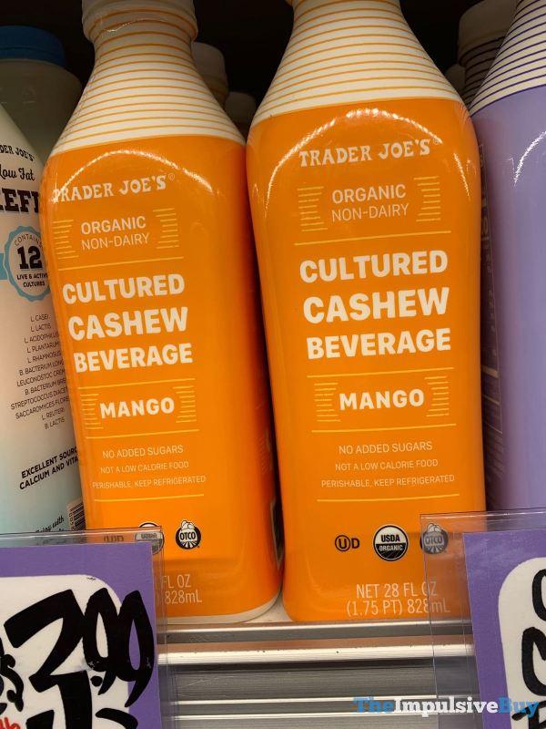 Trader Joe s Organic Non Dairy Cultured Cashew Beverage Mango
